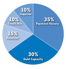 Credit Score Pie Chart Understanding Credit Scores Wings Financial