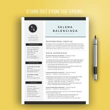 Modern Resume Template Word Custom Creative Resume Template For Word Creative CV Template Modern