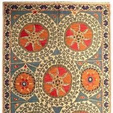 folk art rugs vintage blue rug kitchen