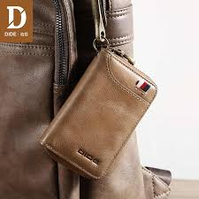 DIDE Fashion <b>Genuine Leather Car Key</b> Wallets Men Card holder ...
