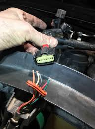 fan clutch wiring fix pulled out of harness ford powerstroke click image for larger version fan clutch wiring 2008 f 250 6 4 powerstroke