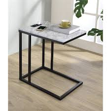 norwich c table with black base and