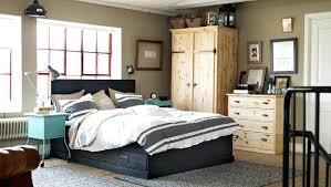 Ikea Bedroom Cupboards Rustic Bedroom With Black Bed And Blue Nightstand  Also Rustic Cupboard Ikea Bedroom . Ikea Bedroom Cupboards ...