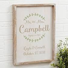 buy personalized wedding wall art mounted in a beautiful rustic whitewashed frame add names wedding date free personalization fast shipping  on personalized wedding gifts wall art with mr mrs personalized whitewashed 14x18 frame wall art wedding gifts