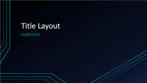 Powerpoint Circuit Theme Triple Circuit Lines Presentation Widescreen Template For