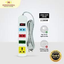 Ổ cắm điện đa năng Honjianda Mã 03 Dây 3m/5m - an toàn chống quá tải - Ổ  cắm điện
