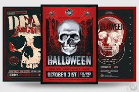 Costume Contest Flyer Template Halloween Psd Flyer Templates V8 Designed To Promote Your Horror Party