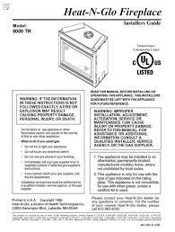 heat n glo 8000 gas fireplace manual