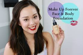 make up for ever face body foundation review testertuesdays