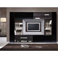 Wenge Living Room Furniture Black Gloss Wenge And Silver Leaf Lcd Tv Frame Unit