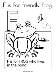 Small Picture Letter F Coloring Pages Twisty Noodle