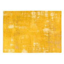 mustard yellow rug with jacquard motifs 200x290