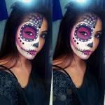 Purple sugar skull makeup photo