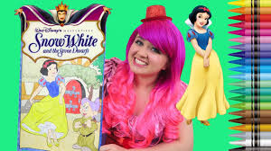 Coloring Snow White Disney Princess Giant Coloring Book Colored