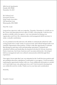 Follow Up Thank You Letter After Interview Template