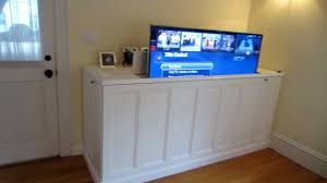 How To Make A TV Lift Cabinet  Steps With Pictures - Bedroom tv lift cabinet