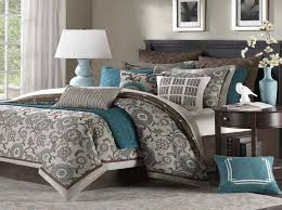 grey and brown comforter sets turquoise and brown bedroom ideas best paint color combinations gray and