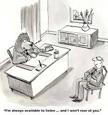 Boss has open door policy stock illustration Illustration of
