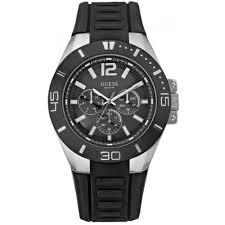 guess mens watches uk watches store part 4 guess men s sporty analogue watch w12597g1 multidial rubber strap
