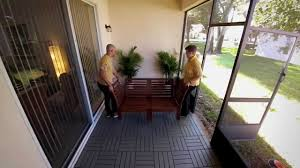 breathtaking ikea floor tile d i y patio project laying outdoor deck k e a home tour you indoor