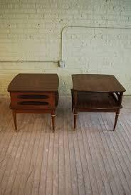 retro wood furniture. two vtg mid century mod tapered leg retro wood veneer laminate side end tables furniture e