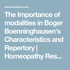 Homeopathy Repertory Chart The Importance Of Modalities In Boger Boenninghausens