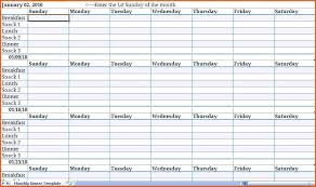 Meal Planning Spreadsheet Excel Printable Meal Planning Templates To Simplify Your Life