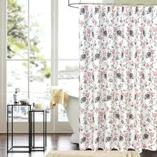 pink fl shower curtain for bathroom friendly waterproof polyester high quality washable hot kids and baby crate pink fl shower curtain