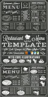 Chalkboard Menu Templates Vector Chalkboard Menu Template Restaurant Design Menu