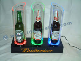 Bar Bottle Display Stand Transparent Acrylic Light Up Liquor Bottle Glorifier Display 89
