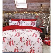 stocking red white reversible duvet cover double 453993 p5466 15084 image jpg