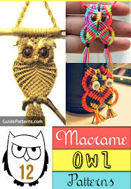 12 macrame owl patterns guide patterns