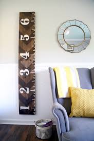 Diy Wooden Growth Chart That Looks Like A Ruler Love