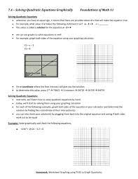 notes solving equations with a
