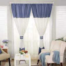 Printing Dtg Picture  More Detailed Picture About White With Blue Cute Curtains For Living Room