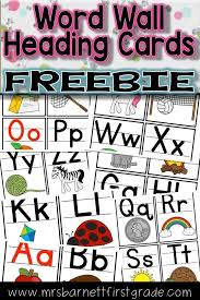 Use these free cards for headings on your Word Wall. They use ...