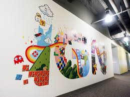 office walls design. IGN COMPLETED WALL GRAPHIC Office Walls Design F