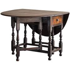 antique english george iii oak drop leaf table with drawer circa 1790 for