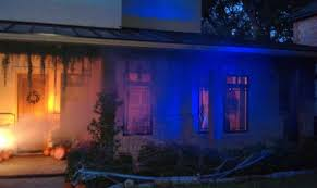 halloween lighting ideas. View In Gallery Dark Blue Halloween Lighting And Fog With Bright Entrance Ideas