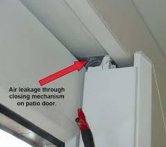 sliding glass door sealing rain leaks designs