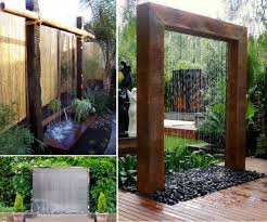 wonderful diy patio water wall