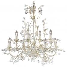 almandite cream gold finish 8 light chandelier with crystal dressing