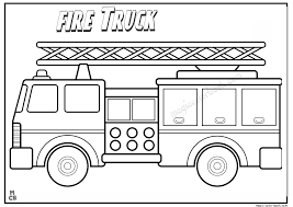 Small Picture Free Fire Truck Coloring Pages FunyColoring