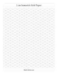 Cm Isometric Grid Paper Portrait A Math Worksheet Freemath