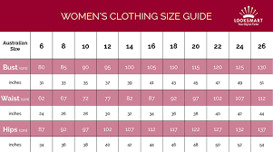Australian Size Chart Measurements A Womans Guide To Clothing Measurements