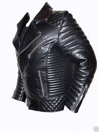 mens synthetic leather vintage 80 s y quilted rock biker jacket bluf punk