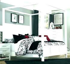 Queen Size Wood Canopy Bed Black Beds – Evanmclaughlin