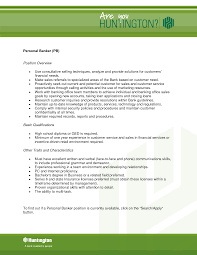 Charming Personal Banker Objective Resume Images Entry Level