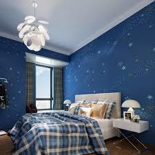 Starry Night Kids\u0027 Bedroom Wallpaper Dark Blue Non woven Wall ...