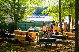 picnic wedding reception. Outdoor Wedding Reception on Sebago Lake in Southern Maine Point